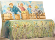 Michael Rosen book bench